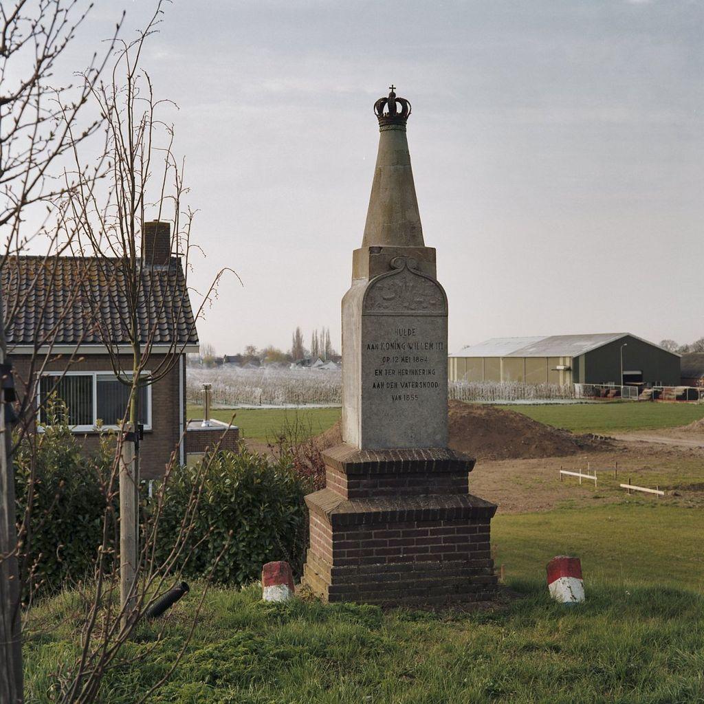 Dreumel of Tremele - Gedenknaald Willem III bij watersnood 1855 Waaldijk_-_Dreumel_-_20363313_-_RCE-CC-BY-SA