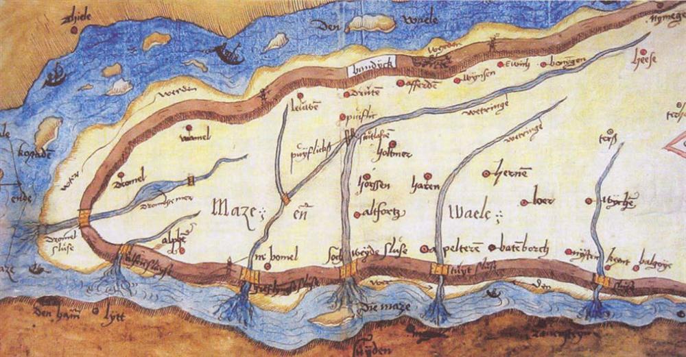 Land van maas en waal - kaart